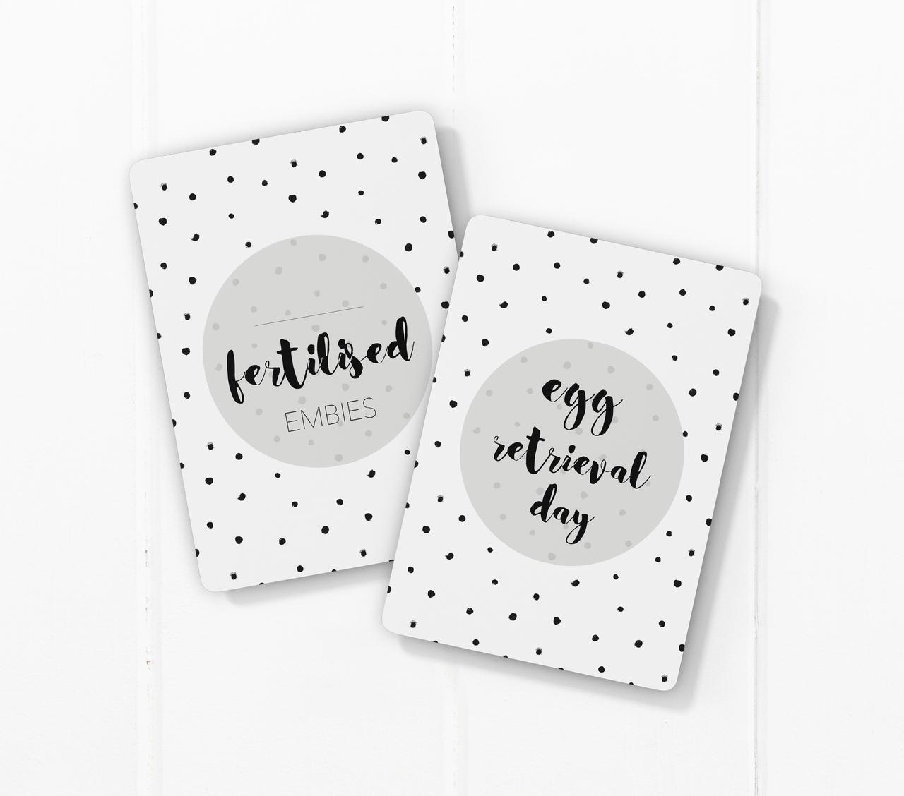 Milestone Cards : IVF Journey Milestone Cards