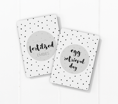 IVF milestone card sets  speckles dots motif