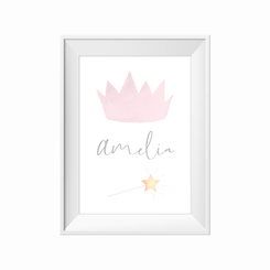 Little Princess Personalised Print