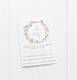 baby party invitation customised tailored invites cards floral flowers