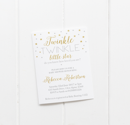 Twinkle Twinkle Baby Shower Invitations