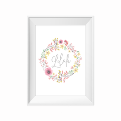 Wildflower Personalised Print