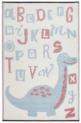 nursery rug mat childrens room dinosaur motif