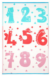 nursery rug mat childrens room numeral motif