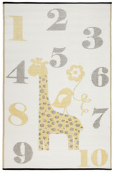 nursery rug mat childrens room giraffe motif