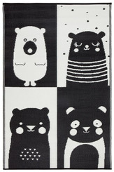 nursery rug mat childrens room bear motif