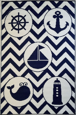 nursery rug mat childrens room marine motifs