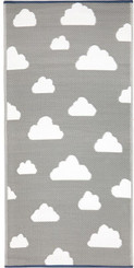 nursery rug mat childrens room cloud motif
