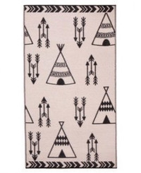 nursery rug mat childrens room teepee motif
