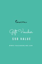 50 gift voucher card present