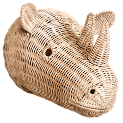 childs room wall décor relief model wicker animal rhinosauros motif