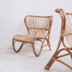Children's Size Rattan Armchair in Natural