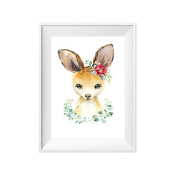 Kanga with Wreath Print