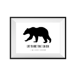 kids print wall décor art nursery art babys room décor whimsical pictures inspirational words bear motif