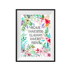 Floral Medley Customisable Wall Print