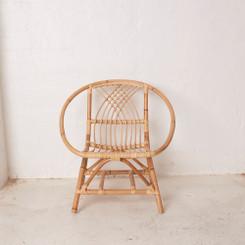 Kids Size Rattan Boho Chair