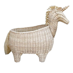 Rattan Unicorn Basket