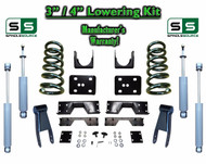 "02 - 08 Dodge Ram 1500 V6 3"" / 4"" Lowering Drop Kit 2WD Coils Flip SHOCKS, NOTCH"