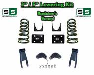 """02 - 08 Dodge Ram 1500 V6 3"""" / 5"""" Lowering Drop Kit 2WD Coils Flip Shackles, EXT"""