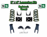 "02 - 08 Dodge Ram 1500 V6 3"" / 4"" Lowering Drop Kit 2WD Coils Flip Shackles, EXT"