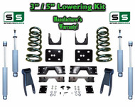 "02 - 08 Dodge Ram 1500 V6 3"" / 5"" Lowering Drop Kit 2WD Coils Flip SHOCKS, NOTCH"