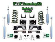 "02 - 08 Dodge Ram 1500 V6 3"" / 6"" Lowering Drop Kit 2WD Coils Flip SHOCKS, NOTCH"