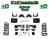 "02 - 08 Dodge Ram 1500 V8 3"" / 6"" Lowering Drop Kit 2WD Coils Flip, C-NOTCH, EXT"