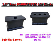 "03-08 Dodge Ram 2500 3500 (1500 Mega Cab) 2.5"" Fabricated STEEL Rear Lift Blocks"