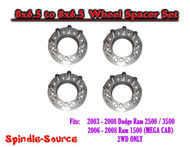 "03-08 Dodge Ram 2500 3500 8 x 6.5 to 8x6.5 FOUR Wheel Spacers 2"" and 3-3/8"""