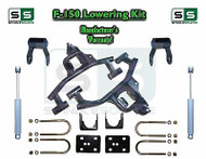 "04 -08 Ford F-150 F150 3"" / 5"" Drop Lowering Kit Control Arms Shackles + SHOCKS"