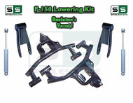 "04 -08 Ford F-150 F150 3"" / 3"" Drop Lowering Kit Control Arms Shackles + SHOCKS"