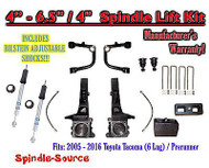 "05 - 16 Toyota Tacoma Prerunner 4 - 6.5"" / 4"" LIFT Kit, Bilstein 5100 Shocks UCA"