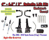 "05 - 16 Toyota Tacoma Prerunner 4 - 6.5"" / 3"" LIFT Kit, Bilstein 5100 Shocks UCA"