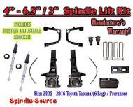 "05 - 16 Toyota Tacoma Prerunner 4 - 6.5"" / 3"" LIFT Kit, Bilstein 5100 Shocks UCA"