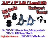 "07 - 13 Chevy Tahoe GMC Yukon 1500 + SUV 3.5"" / 3"" FULL LIFT KIT 2WD Spindles"
