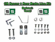 "05 - 17 Toyota Tacoma Carrier Bearing Spacer + REAR Brake Line Kit for 3""+ LIFT"