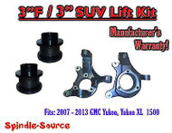 "07 - 13 Chevy Tahoe GMC Yukon 1500 + SUV 3"" / 3"" FULL LIFT KIT 2WD Spindles"