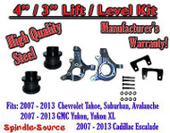 "07 - 13 Chevy Tahoe GMC Yukon 1500 + SUV 4"" / 3"" FULL LIFT KIT 2WD Spindles"