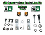 "07 - 16 Toyota Tundra Carrier Bearing Spacer + REAR Brake Line Kit for 3""+ LIFT"