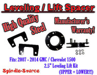 "07 - 14 Chevy GMC Trucks and SUVs 2.5"" Lifting Leveling Strut Spacer STEEL!"