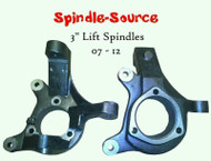 "07-16 Silverado Sierra C1500 2WD 3"" Lift Spindles Knuckles - Spindle Source!!"