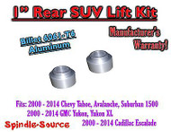 "1"" Rear Aluminum Billet Coil Lift Spacer Chevy GMC SUV 1500 Tahoe Suburban Yukon"