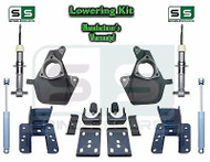 16-18 Silverado Sierra 3/5 Drop Lowering KIT STAMPED / ALUM ARMS 3/5 STRUTS SHOCKS