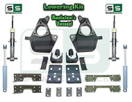 16-18 Silverado Sierra 4/7 Drop Lowering KIT STAMPED / ALUM STRUTS SHOCKS NOTCH