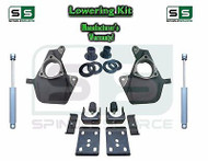 """16-18 Silverado Sierra 4"""" / 7"""" Drop Lowering KIT STAMPED / ALUM ARMS + SHOCKS"""