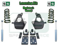 16-18 Silverado Sierra 4/7 Lowering DROP KIT STAMPED / ALUM ARMS Coils V8 SHOCKS