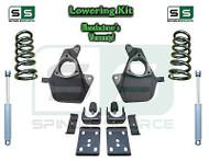 16-18 Silverado Sierra 4/7 Lowering DROP KIT STAMPED / ALUM ARMS Coils V8 SHOCKS