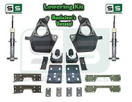 "16-18 Silverado Sierra 4"" / 7"" Drop Lowering KIT STAMPED / ALUM Arms STRUTS NOTCH"