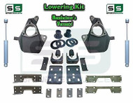 "16-18 Silverado Sierra 4"" / 7"" Drop Lowering KIT STAMPED / ALUM ARMS SHOCKS NOTCH"