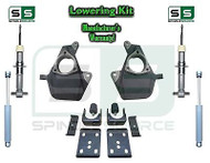 "16-18 Silverado Sierra 4"" / 7"" Drop Lowering KIT STAMPED / ALUM ARMS STRUTS SHOCKS"